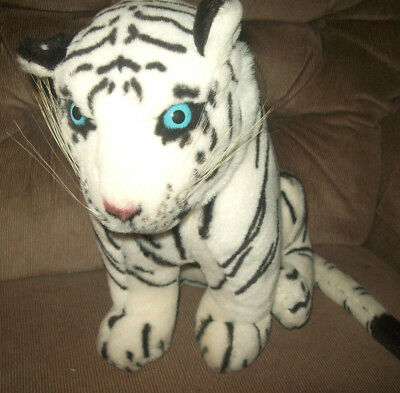 ACE Play By Play White Siberian Tiger Blue Eyes Foam Filled 12in Plush Animal