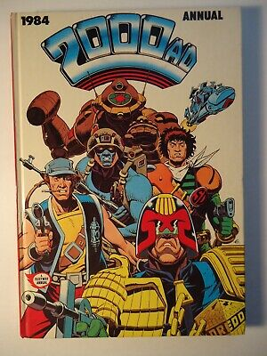 2000AD ANNUAL 1984 Hardcover UK edition *RARE ALAN MOORE stories + Gibbons cover