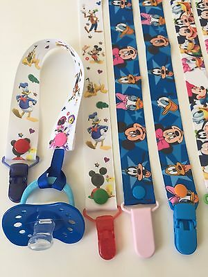 Handmade Pacifier Holder - Disney - Mickey Mouse and Friends - Tsum Tsum