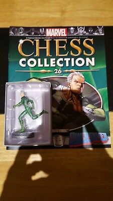 Marvel Chess Collection #26 Quicksilver w/magazine