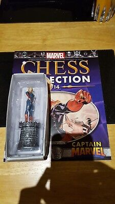 Marvel Chess Collection #14 Captain Marvel w/magazine
