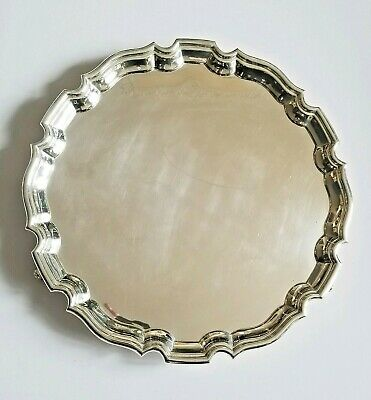 Antique English Sterling Silver Salver Tray George Hape Sheffield