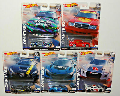 Hotwheels Car Culture Open Track Full Set Of Five Alloys Rubber Tyres