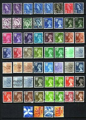 Collection of Scotland regional definitives - all different (GU/FU)
