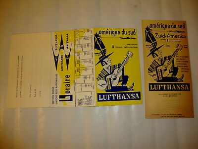 Alitalia Air France Lufthansa Airlines. 2 Timetables Prospectus
