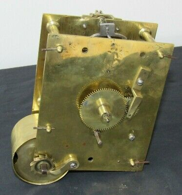Nice English Antique Fusee Clock Movement
