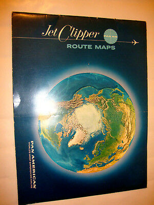 Pan American World Airline Jet Clipper Route Maps.