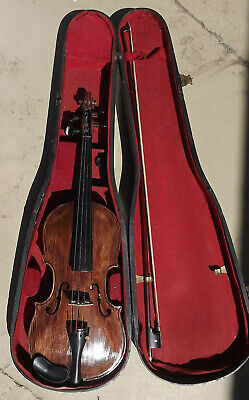Vintage Stainer Violin With Bausch Bow and Coffin Case