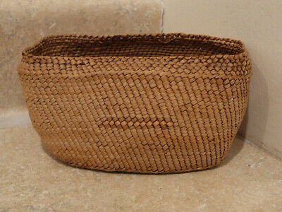 S25 Native American Indian Handwoven Basket Makah Style