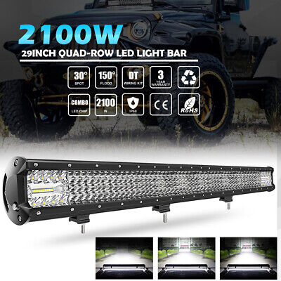"""29 inch 2100W LED Light Bar Work Off road Truck For Ford SUV ATV UTE 4WD 4x4 32"""""""