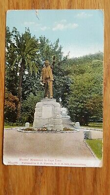Old Postcard Rhodes Monument Cape Town South Africa