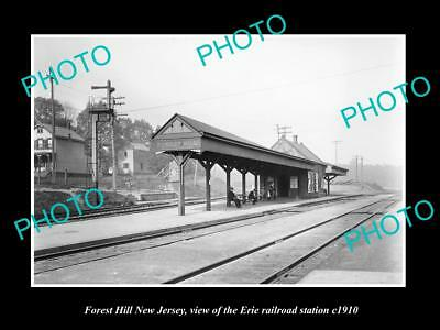 Old Large Historic Photo Of Forest Hill New Jersey Erie Railroad Station 1910 1