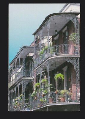 New Orleans LA fine examples of cast iron lace work Balconies on St. Peter st pc