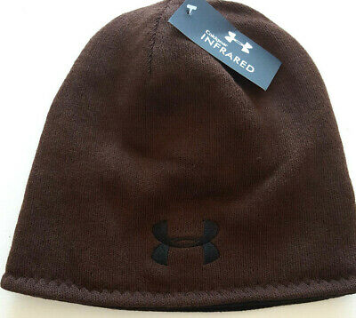 af37adb6dad18 Under Armour Men s BROWN   BLACK Reversible fleece hat BN w tags Fast  Shipping