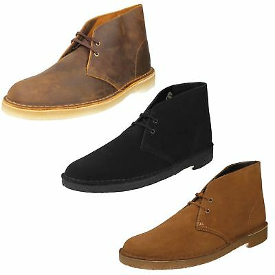 0c1d1b21e2d274 Clarks Originals Mens Desert Boot Suede Leather Classic Smart Ankle Boots  Shoes