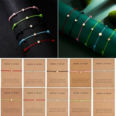 Multicolor Make a wish Bracelet Rope Adjustable String Lucky Bracelet Women Kids