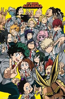MY HERO ACADEMIA - SELFIE CHARACTER COLLAGE POSTER 22x34 - 16406
