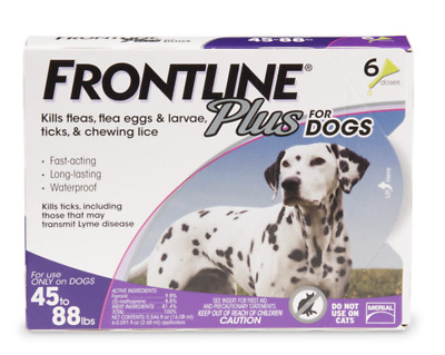 Frontline plus for dogs 45-88 lbs 6 Months Supply  Brand NEW! FREE SHIP!