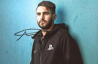 MAN CITY & ALGERIA: RIYAD MAHREZ SIGNED 6x4 PORTRAIT PHOTO+COA