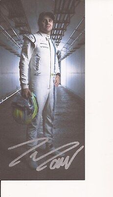 MOTOR RACING FORMULA ONE  * FELIPE MASSA SIGNED 8x4 PORTRAIT PROMO PHOTO+COA