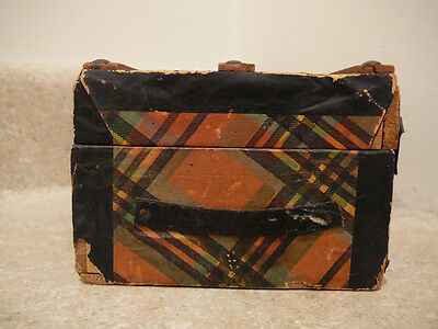 S20 Antique Doll Salesman Sample Steamer Trunk Chest Victorian Toy Teddy Bear