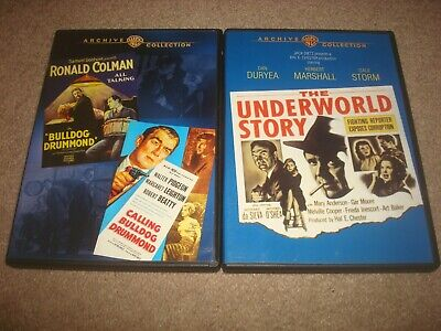 The Underworld Story + Bulldog Drummond Double Feature DVD LOT Warner Archive WB
