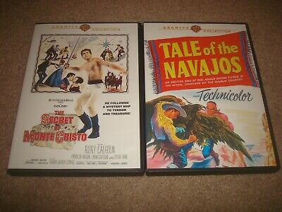 Tale of the Navajos + Secret Monte Cristo DVD LOT Warner Archive Collection Film