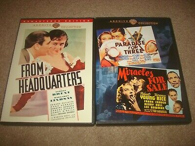 From Headquarters + Paradise For Three Miracles For Sale DVD LOT Warner Archive