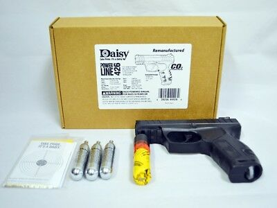 DAISY POWERLINE 426 Black Air Pistol Kit with 3 CO2 Tanks, BBs &  Targets(Refurb)