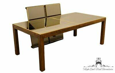 Henredon Furniture Scene One Campaign Style 121 Mirror Top Dining Table 1264