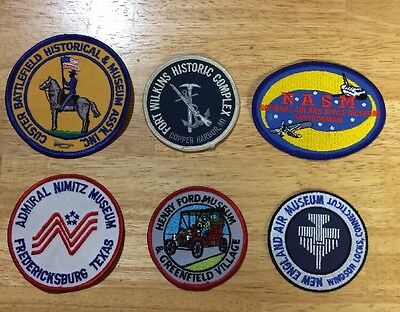 Set Of 6 Vintage 1980s Museum Patches