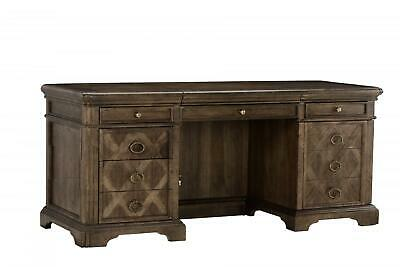 Transitional Brown Wood Credenza Desk American Chapter A.R.T.