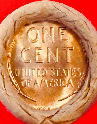 1909-P /  1909 Vdb End Bank Of San Francisco Obw Roll Lincoln Wheat Penny Roll