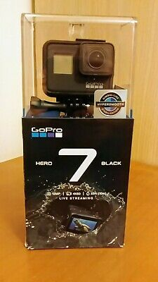 GoPro Hero 7 Black with Tripod - Carry Case - Book all unused