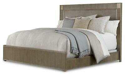Contemporary Sandstone Finish King Panel Bed Cityscapes A.R.T.