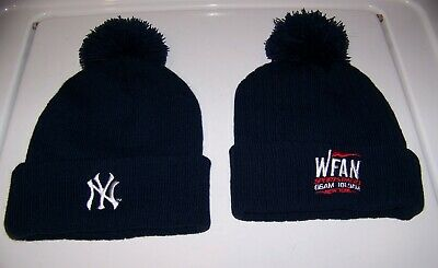 56ea32efe 1 NEW YORK YANKEES WFAN SPORTS RADIO Winter Knit Cap Hat Promo Stadium  Giveaway