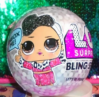 HOLIDAY BLING GLAM GLITTER ORNAMENT~SERIES~LOL Surprise Doll BIG SISTER BALL