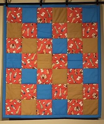 Elephant Cat Dog Bunny Unisex Baby Quilt Handmade Boys Girls Animals Cotton NEW