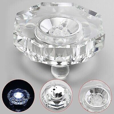 """Rotating Crystal Display Base Stand w/ 4 Color LED (3"""" / 100 mm Diameter)"""