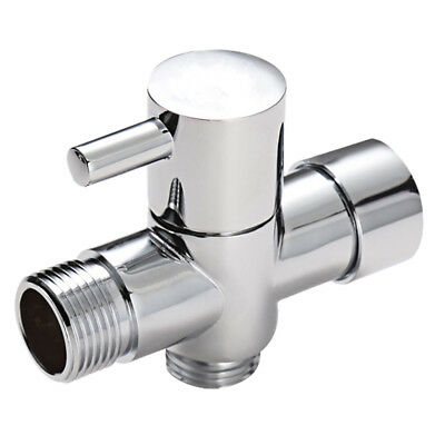 Metal T-Adapter With Shut-Off Valve Connector Solid Brass  Shower Arm Diverter