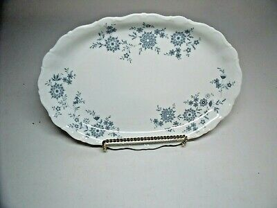 "BAVARIAN BLUE CHRISTINA Porcelain Seltmann Weiden W.Germany  12"" OVAL PLATTER"