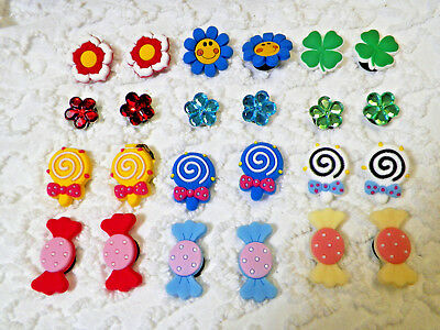 New Flowers Candy Clog Plug Shoe Charm Will Also Fit Jibitz,Croc Lot/24  C 714