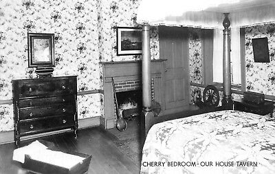 Gallipolis OH Cherry Room~Spinning Wheel~Fireplace~Our House Tavern RPPC 1940s?