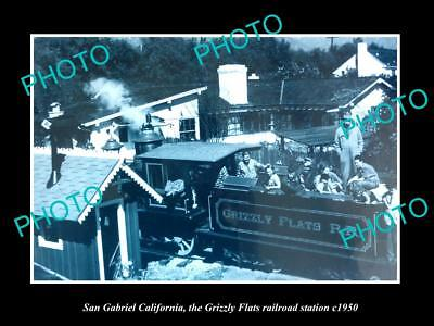 Old Historic Photo Of San Gabriel California Grizzly Flats Railroad Depot 1950 2