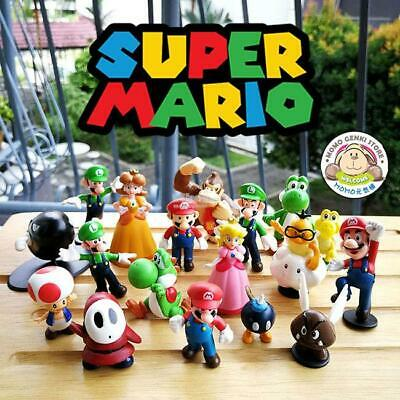 SUPER MARIO BROS. CHARACTERS ~ 5 INCH Action Figure Collectible Model ~ NEW