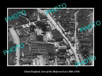 OLD LARGE HISTORIC PHOTO OF CHARD ENGLAND, THE HOLYROOD LACE MILL c1930