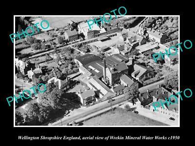 OLD LARGE HISTORIC PHOTO WELLINGTON SHROPSHIRE ENGLAND, THE WREKIN WORKS c1950