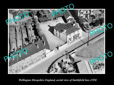 OLD LARGE HISTORIC PHOTO WELLINGTON SHROPSHIRE ENGLAND, THE SMITHFIELD INN c1950