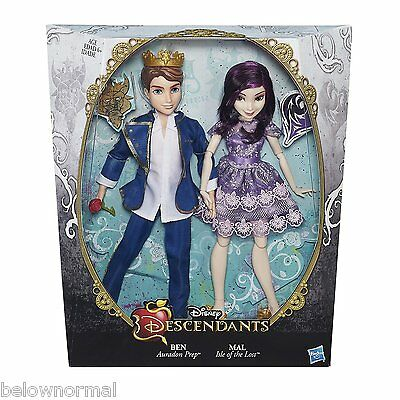 Disney Descendants Two-Pack Mal Isle of the Lost & Ben Auradon Prep Dolls 2 pack