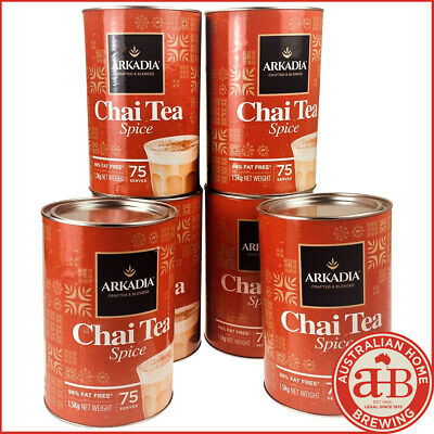 6 PACK Arkadia Chai latte Spice chai powder 1.5KG Spice Chai cafe tea latte
